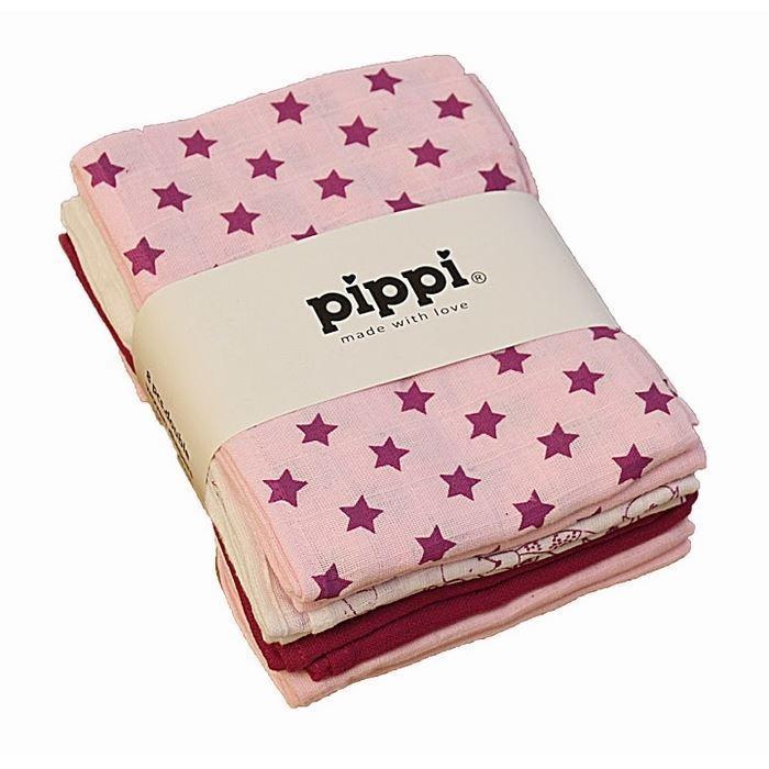 Pippi Stofbleer 8stk - Lyserød