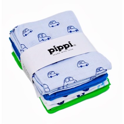 Pippi Stofbleer 8stk - Turkis