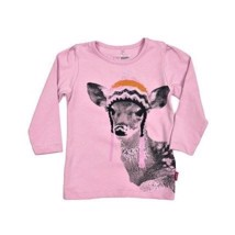Name It T-shirt - Rosa med hjort