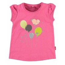 Name It T-shirt - Pink med balloner