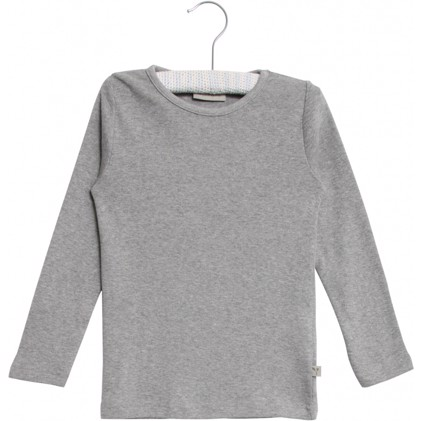 Wheat - Økologisk Bluse - Grey Melange