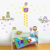Walplus Wall Sticker Glow In Dark Owl Flower Tree Art