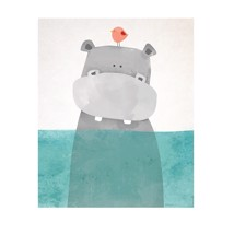 Hippo Art Canvas Printing
