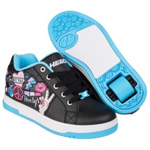 Heelys Rullesko - Black/Aqua/Peace Patch - 1 hjul
