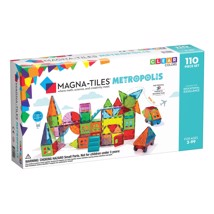 Magna Tiles - 110 stk transparent Metropolis - På lager igen slut april 2021