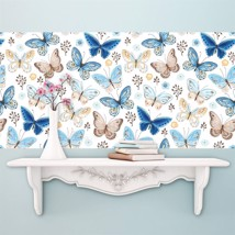 Walplus Colourful Butterflies Pattern Wall Sticker (Pack of 4 Sheets)