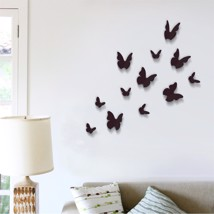 Walplus 3D Butterfly in Black Wall Sticker