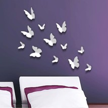 Walplus 3D Butterfly in White Wall Sticker