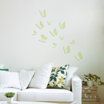 Walplus Wall Sticker Glowing 3D Butterflies