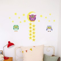 Walplus Wall Sticker Decal Glow in Dark Owl Tree Star