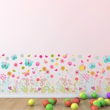 WS5042 - Colourful Butterflies and Flowers Skirting