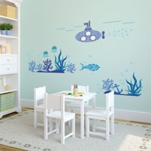 Walplus Wall Sticker Decal Ocean World with Frames