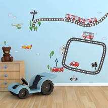 Walplus Wall Sticker Decal Kid's Transport