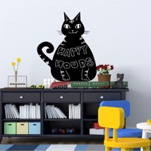 Walplus Wall Sticker Decal Blackboard - Cat